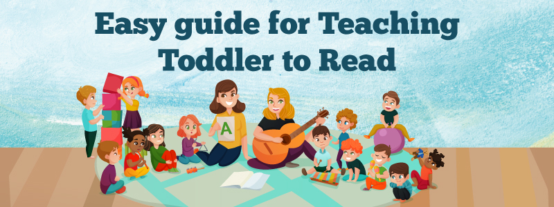 Easy guide for teaching toddler to read!